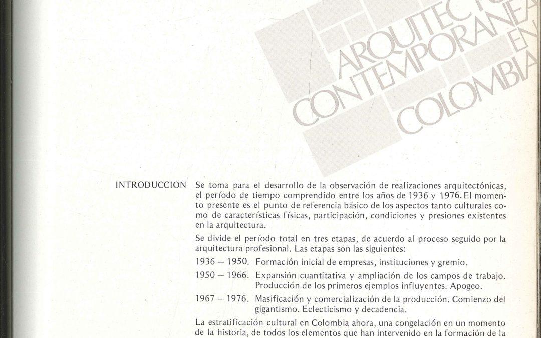 Fascículo 14, Aspectos de la arquitectura contemporánea en Colombia