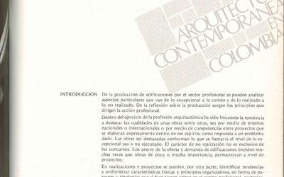 Fascículo 19, Aspectos de la arquitectura contemporánea en Colombia