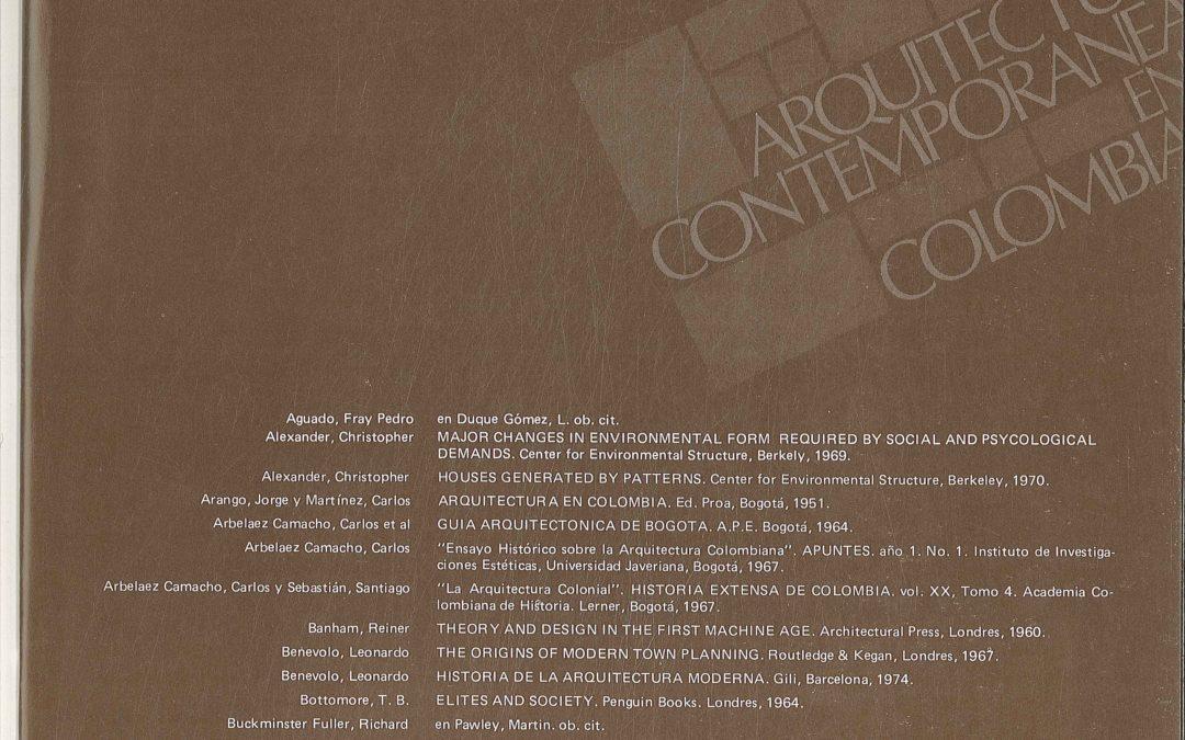 Fascículo 30, Aspectos de la arquitectura contemporánea en Colombia