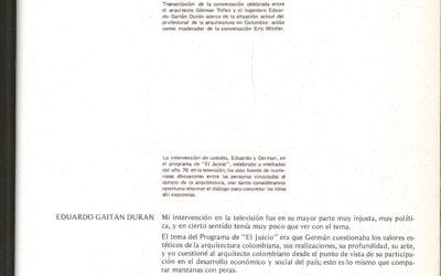 Fascículo 28, Aspectos de la arquitectura contemporánea en Colombia