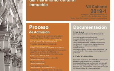 Maestría en Conservación del Patrimonio Cultural Inmueble, 2019-1 Universidad Nacional de Colombia