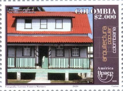 La arquitectura popular colombiana como tema de emisión filatélica, 2020